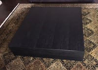 """Square dark brown  wooden coffee table 47""""x47"""" (12""""hight)  3754 km"""