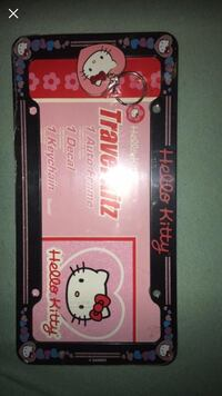 Hello kitty license plate cover, keychain decal
