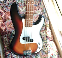 Fender Precision Electric Bass Guitar with Practice Amp
