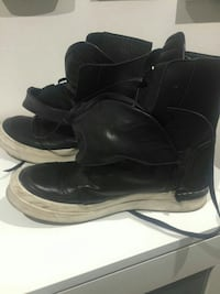 Sneakers donna pelle nera Roma, 00137