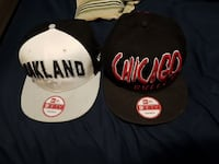 white and black snap back caps King City, L0G 1N0