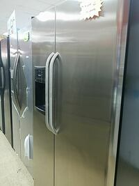 stainless steel side by side refrigerator with dispenser Lawrenceville, 30046