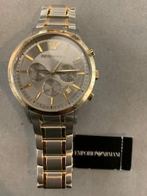 Emporio Armani Silver/Gold Men's Watch For Sale!