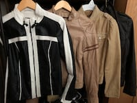 4 mint condition worn maybe once/twice  size small danier leather bombers price takes all 4 BURLINGTON