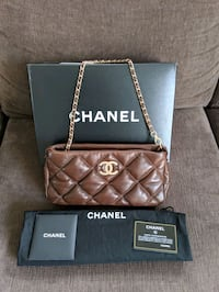 Authentic Chanel Lambskin Purse Surrey