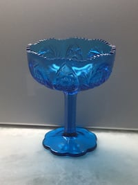 Blue Indiana pressed glass candy dish  Mobile, 36604