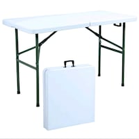 Lifetime 72 in. Almond Plastic Portable Folding Table Brand New! Baltimore, 21217