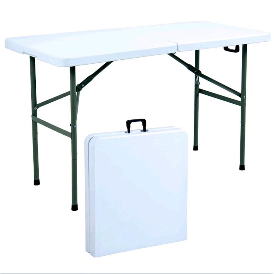Lifetime 72 in. Almond Plastic Portable Folding Table Brand New!