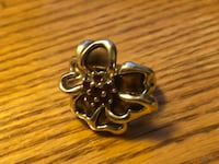 Silver and copper flower ring  Albuquerque, 87112