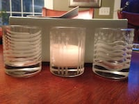 PartyLite Americana Heritage Trio candle holders SEABROOK