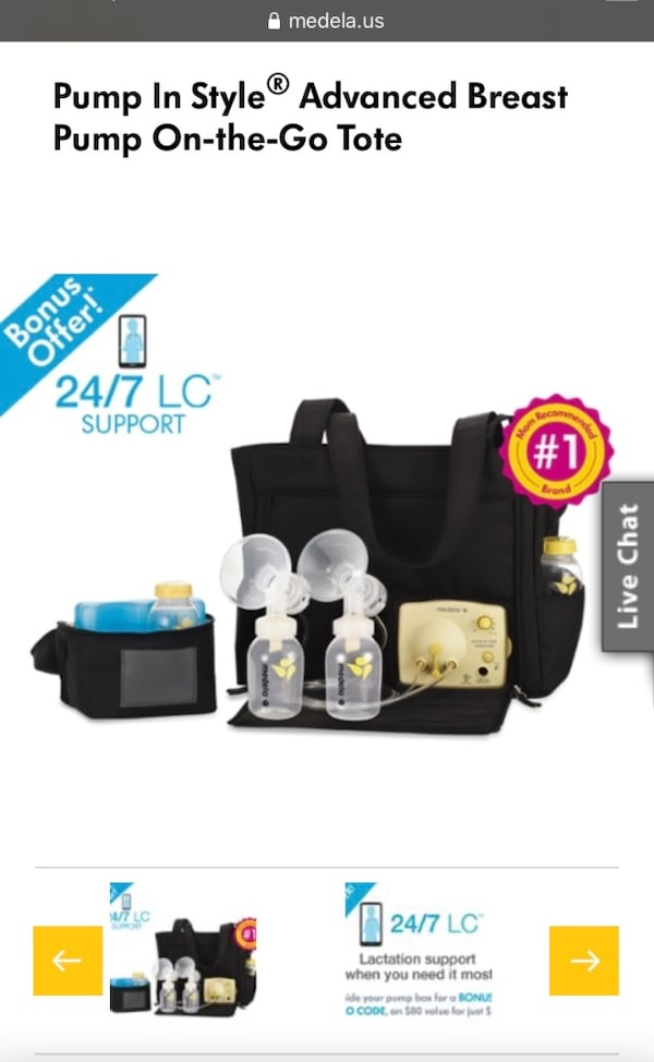 Used Medela Pump In Style Advanced Breast Pump On The Go Tote For Sale In Blaine Letgo