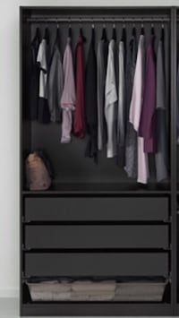 Ikea Pax/Komplement wardrobe, black brown same as catalog picture but has 4 drawers. Great condition! Modesto, 95355