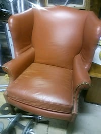 brown leather padded sofa chair Ladson, 29456