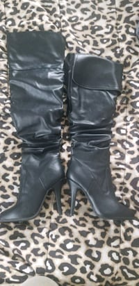 Brand new in box size 7 black heel boot  Lynn, 01905