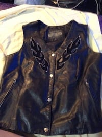 black leather zip-up jacket Saskatoon, S7L