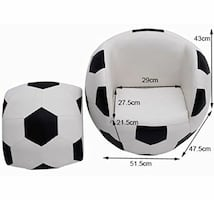 Soccer Ball Ottoman Sofa Chair With Foot Ottoman KIDS 3 To 10 (In Box)