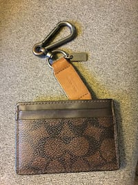 Coach card/money holder with clip