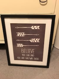 black wooden framed quote board London, N5Y 2A7