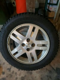 Set of 4, practically new snow tires with rim Smithville, L0R 2A0