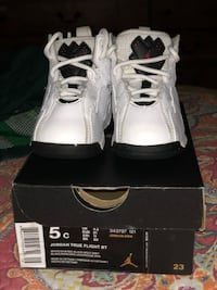 pair of white Air Jordan basketball shoes with box San Antonio, 78233
