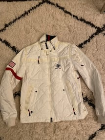 Ralph Lauren RLX Vintage USA White Quilted Ski Jacket Men's Med