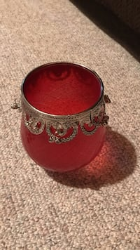 red glass cup