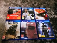 ps4 6 oyun (detroit become human, fifa 18,drive club, uncharted,god of İstiklal, 17200