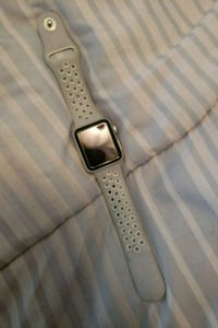 silver aluminum case Apple Watch with white sports West Springfield, 22152