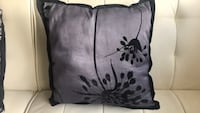 black and gray floral throw pillow 333 mi
