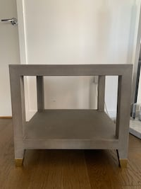 Restoration hardware leather side table