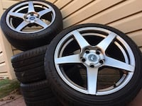 """18"""" Forgestar CF5 5x120 BMW Staggered Wheels and Tires Laurel, 20723"""