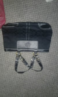 black and gray leather tote bag Edmonton, T6J 4S7