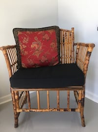 Rattan Chair with cushion and pillow