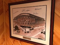 Ebbets field framed photo with 5 signatures Alexandria, 22314