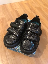 Toddler Girls Native Shoes - Black Glitter