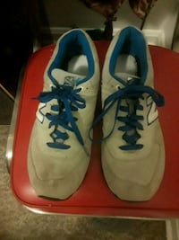 pair of white-and-blue Nike sneakers Falls Church, 22044