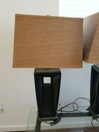 brown faux base with carmel lampshade table lamp Folsom, 95630
