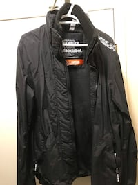 Black zip-up jacket, Superdry Edmonton, T5R 5W9