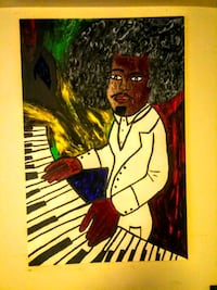 Hand-painted the Piano Man Washington, 20019