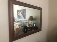 rectangular brown wooden framed mirror Leesburg, 20176