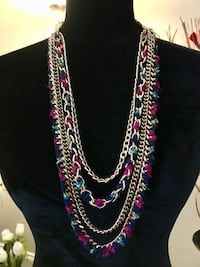 """32"""" Gold Chain and Multi-Color Necklace Alexandria, 22312"""