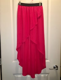 LNC High-Low Coral Chiffon Maxi skirt - size XS/S  Vancouver, V5N