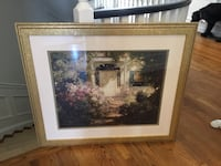 "Framed print ""Garden and Doorway"". Perfect condition  Toronto, M2P 1E4"