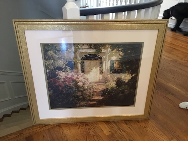 """Framed print """"Garden and Doorway"""". Perfect condition"""