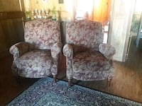brown and gray floral fabric sofa chair 1171 mi