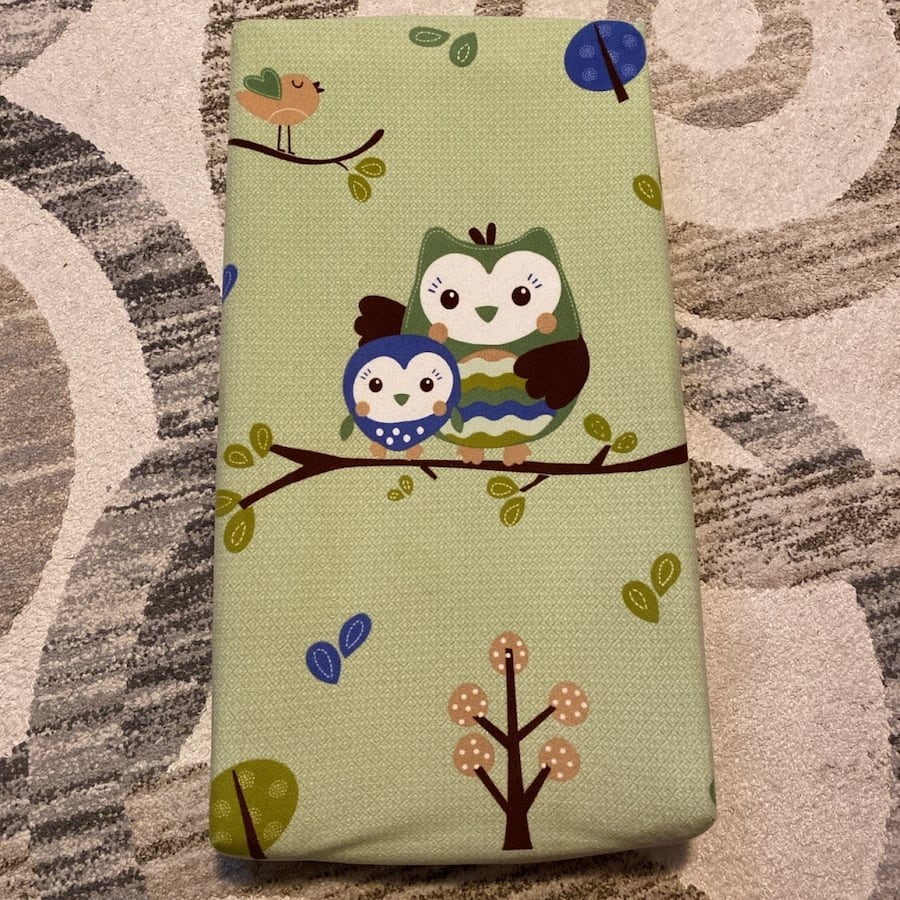 Baby diaper change pad with owl cover
