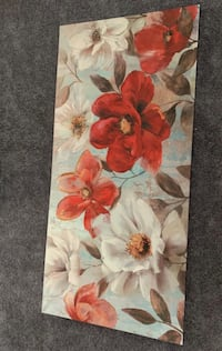 white and red flowers painting Las Vegas, 89148