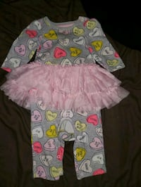 Valentine's day outfit. 3-6 months