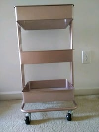 Craft cart on wheels. Rose gold/champagne Frederick, 21703