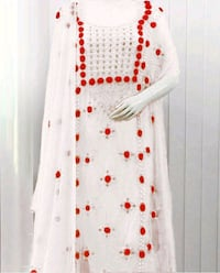 white and red floral long-sleeved dress Hyderabad, 500013